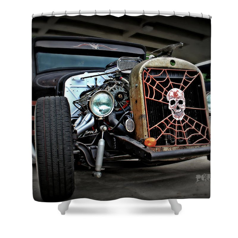 Rat Rod Shower Curtain featuring the photograph Rat Rod Style by Perry Webster