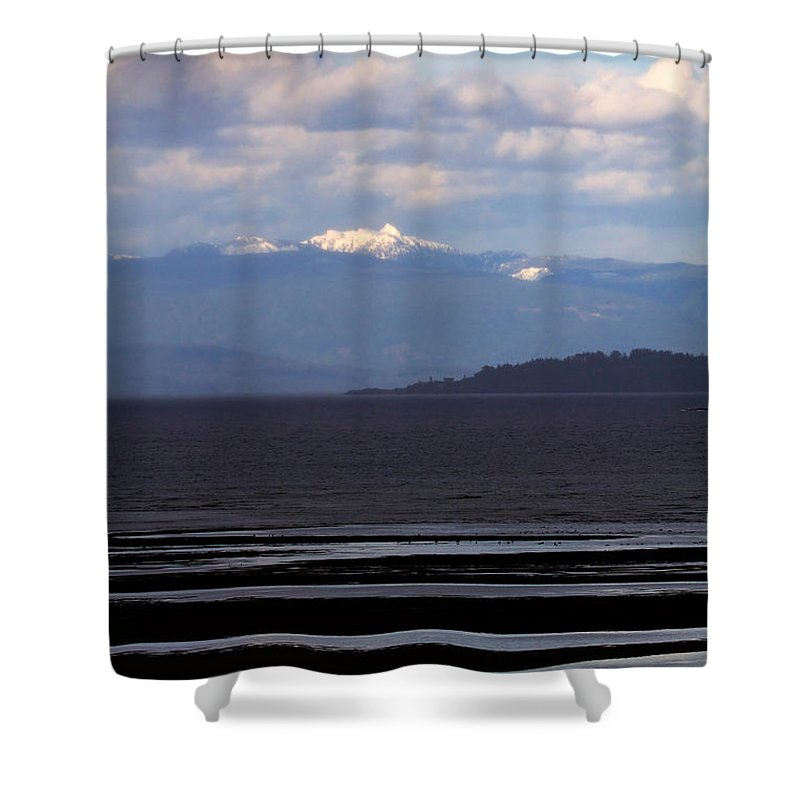 Landscape Shower Curtain featuring the photograph Rathtrevor Beach On Vancouver Island In British Columbia by Louise Heusinkveld