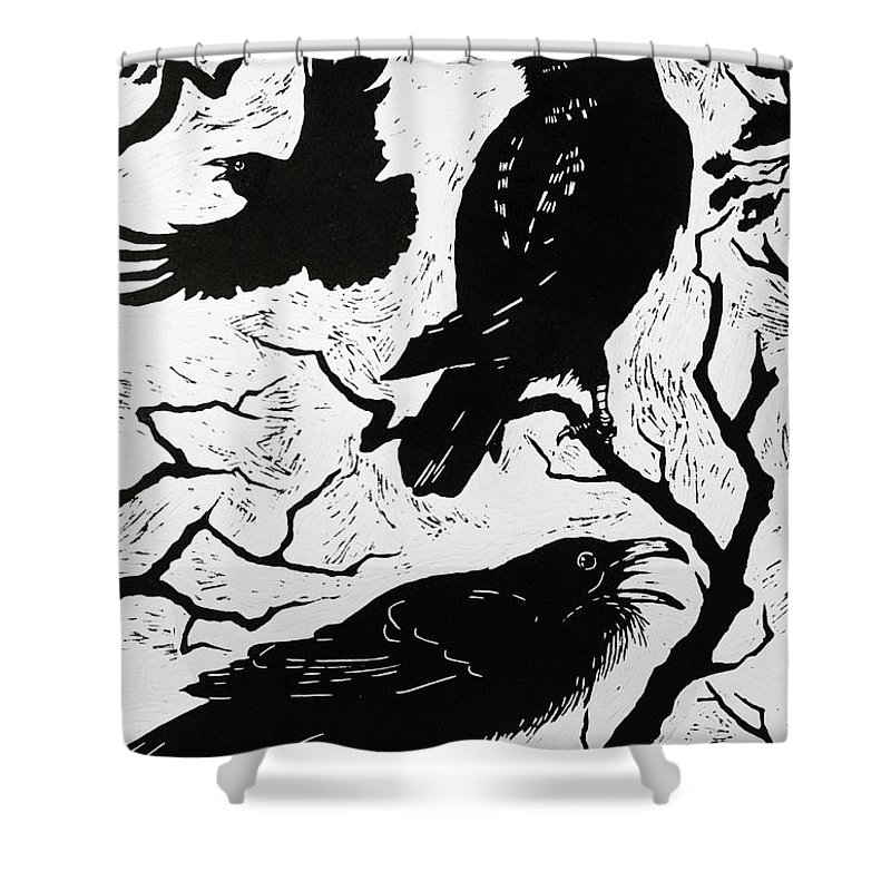 Raven Shower Curtains