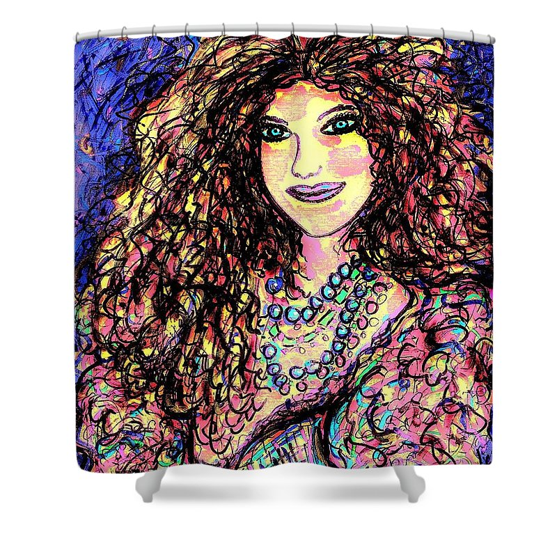 Woman Shower Curtain featuring the painting Ravishing Beauty by Natalie Holland