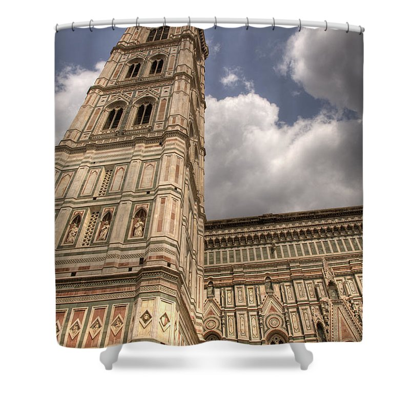 Tuscany Shower Curtain featuring the photograph Reach For The Sky by Ian Middleton