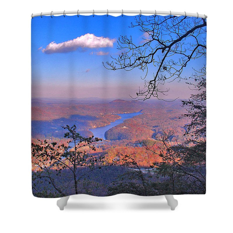 Landscape Shower Curtain featuring the photograph Reaching For A Cloud by Steve Karol