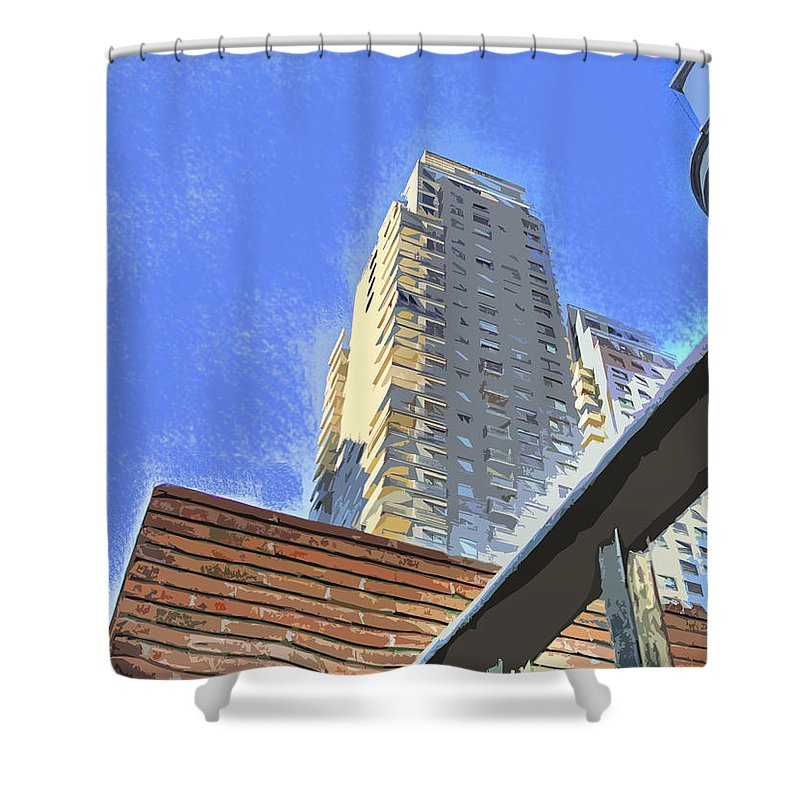 Building Shower Curtain featuring the photograph Reaching For The Sky by Francisco Colon