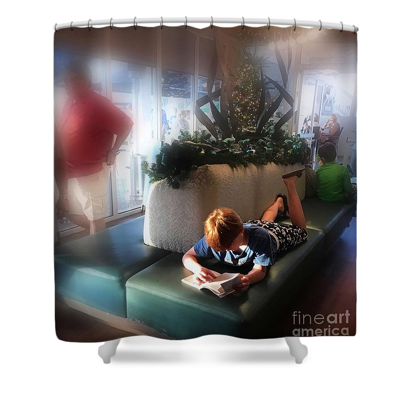 Read Shower Curtain featuring the digital art Read Anywhere by Beth Williams