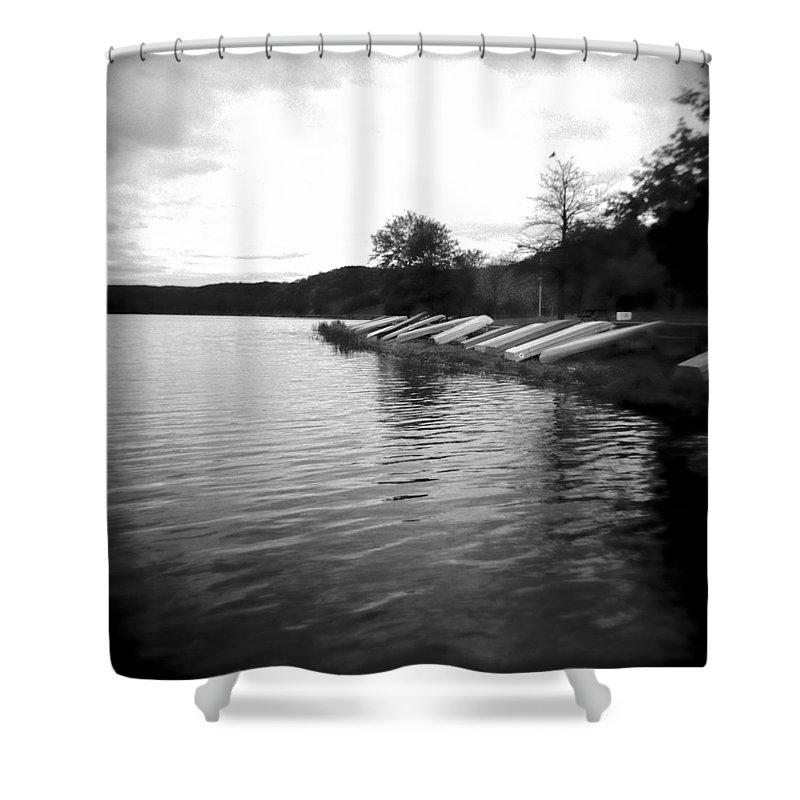 Photograph Shower Curtain featuring the photograph Ready And Waiting by Jean Macaluso