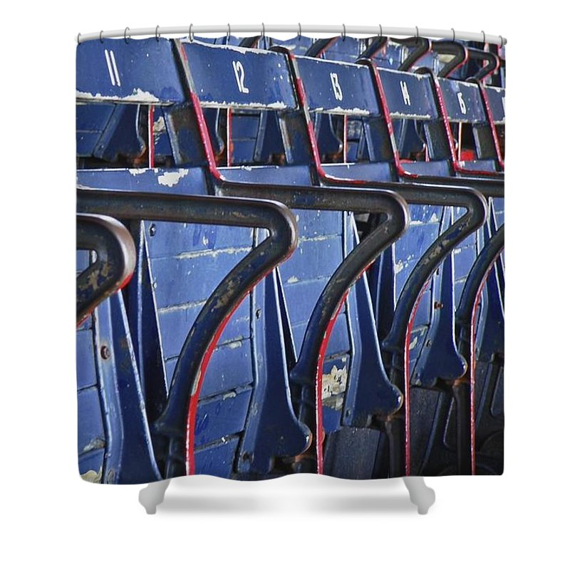 Boston Shower Curtain featuring the photograph Ready For Red Sox by Donna Shahan