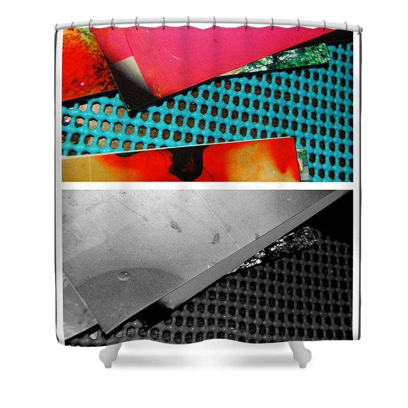 Abstract Shower Curtain featuring the photograph Ready Red by Alwyn Glasgow