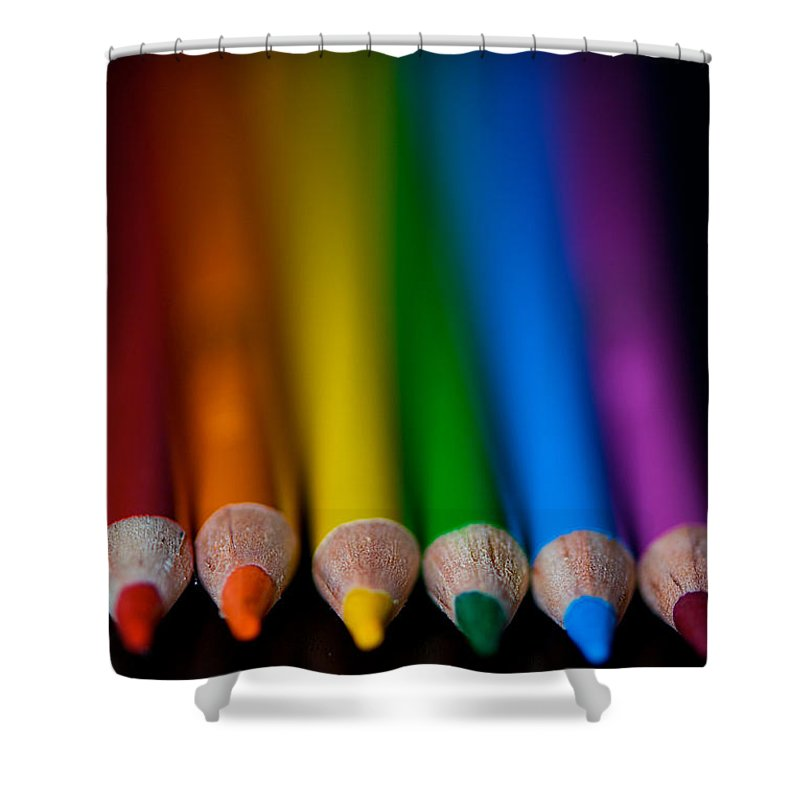 Pencil Shower Curtain featuring the photograph Ready To Begin by Lisa Knechtel