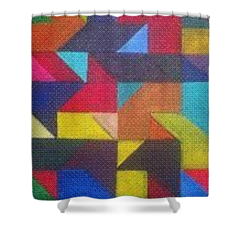 Digitalize Image Shower Curtain featuring the digital art Real Sharp by Andrew Johnson