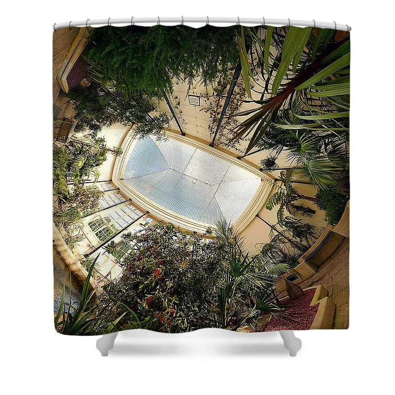 Real World Shower Curtain featuring the digital art Real World by Maye Loeser