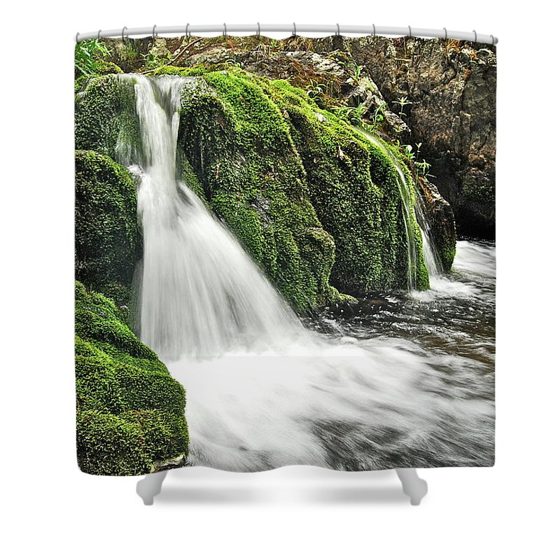 Reany Falls Shower Curtain featuring the photograph Reany Falls 1 by Michael Peychich