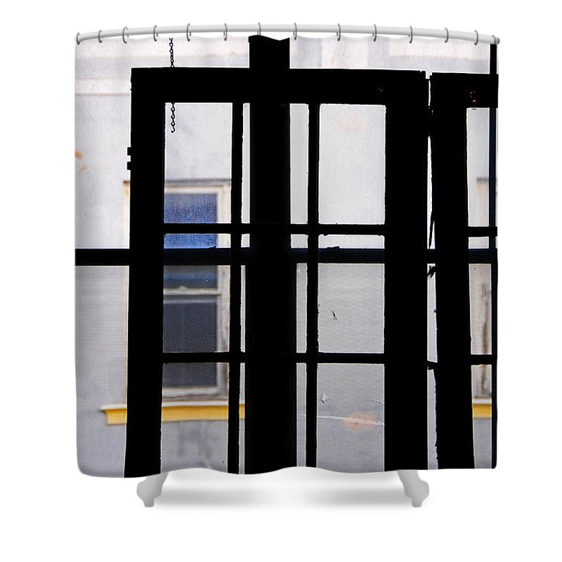 Skip Hunt Shower Curtain featuring the photograph Rear Window 1 by Skip Hunt