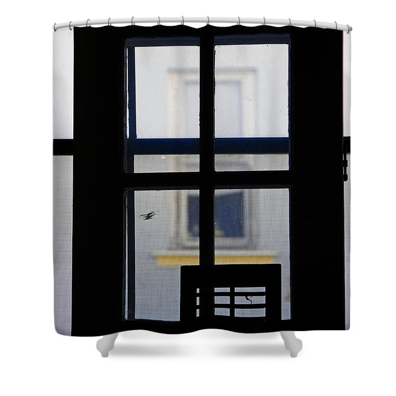 Architecture Shower Curtain featuring the photograph Rear Window 2 by Skip Hunt