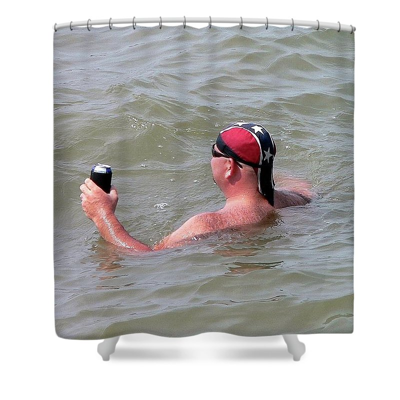 Rebel Shower Curtain featuring the photograph Rebel Refreshment by Al Powell Photography USA