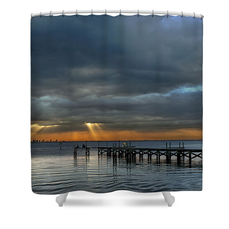 Sunset Shower Curtain featuring the photograph Rebirth by Norman Johnson