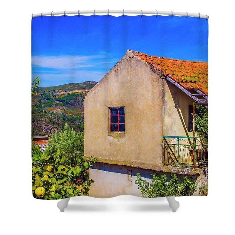 Rebordelo Shower Curtain featuring the photograph Rebordelo House by Roberta Bragan