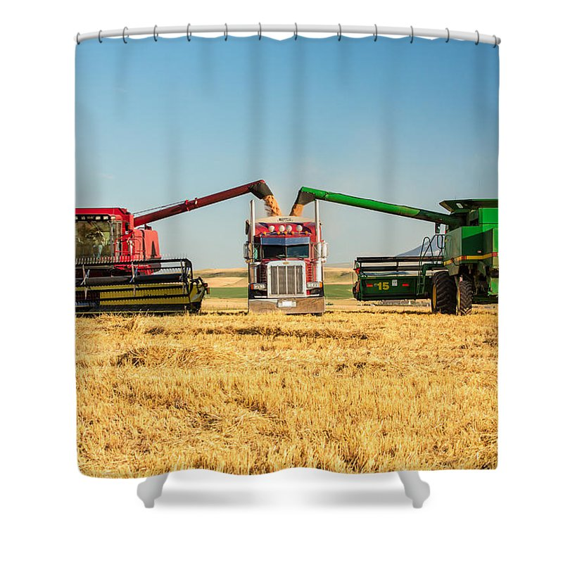 Two Shower Curtain featuring the photograph Red And Green by Todd Klassy