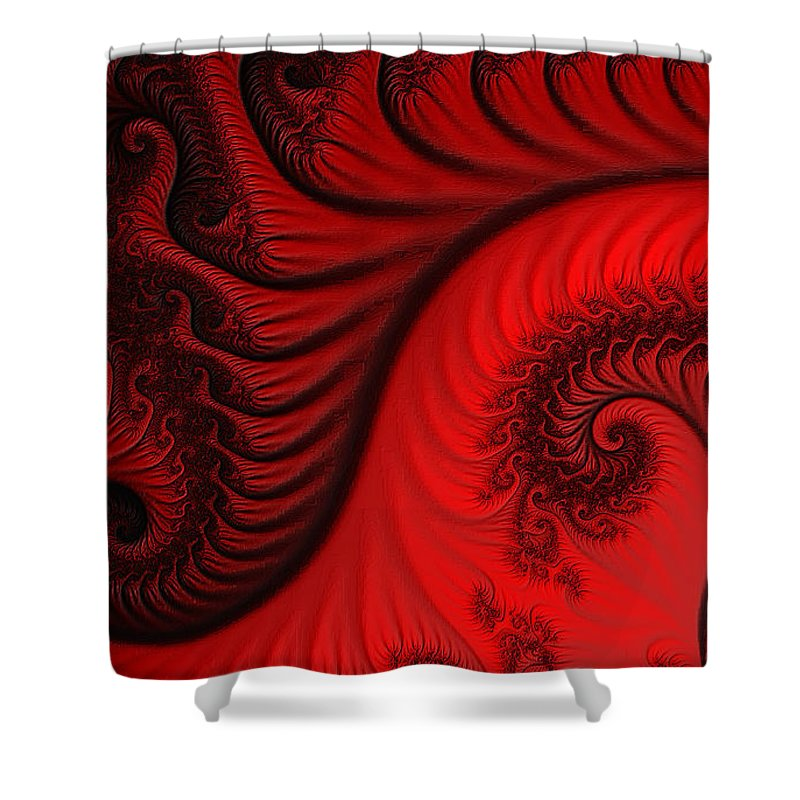 Clay Shower Curtain featuring the digital art Red Ants by Clayton Bruster