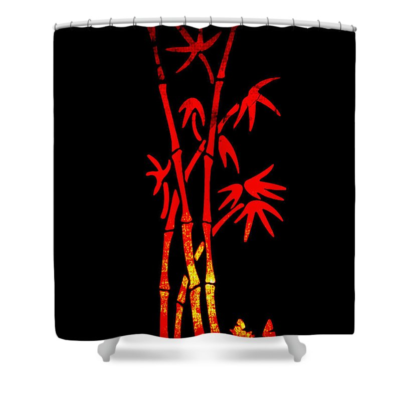Patzer Shower Curtain featuring the photograph Red Bamboo by Greg Patzer