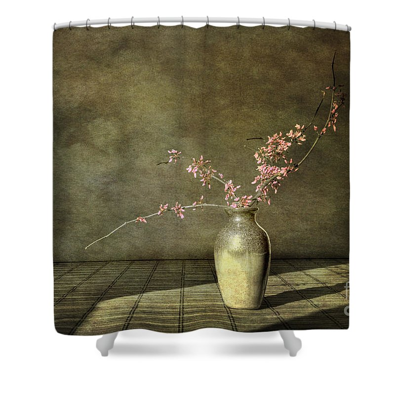 Red Bud Shower Curtain featuring the photograph Red Bud by Sari Sauls