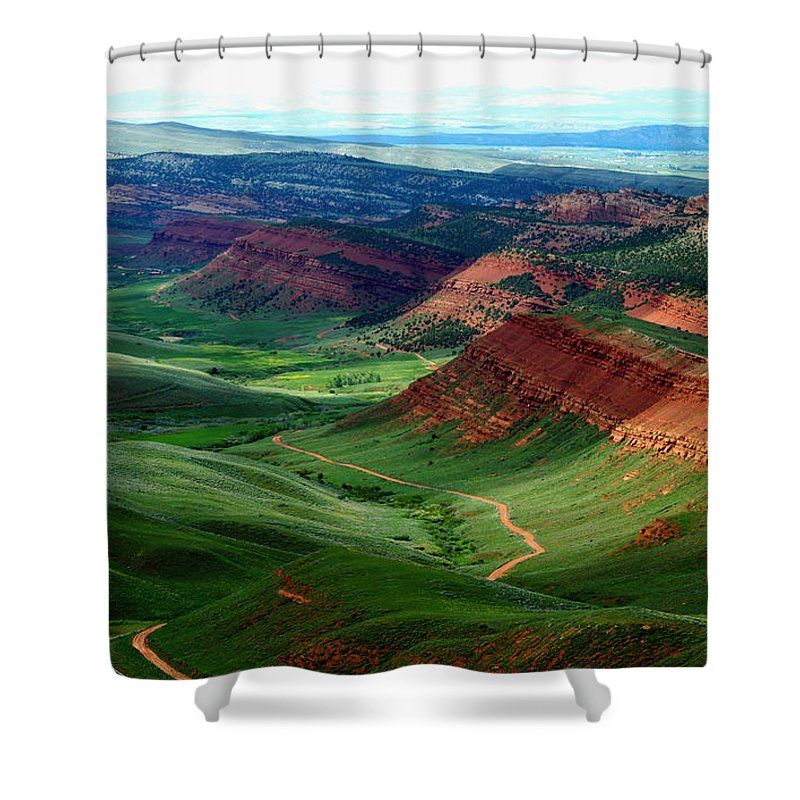 Jenny Gandert Shower Curtain featuring the photograph Red Canyon by Jenny Gandert