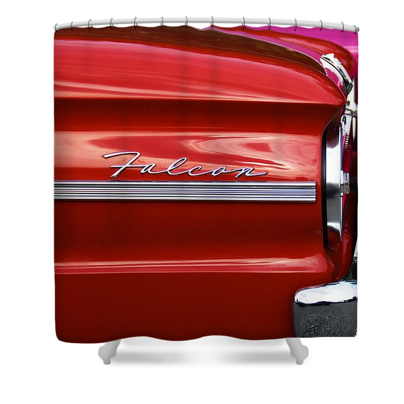 Ford Shower Curtain featuring the photograph Red Falcon by Ken Matosky
