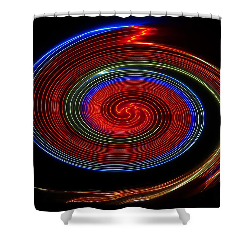 Red Shower Curtain featuring the photograph Red Galaxy by David Lee Thompson