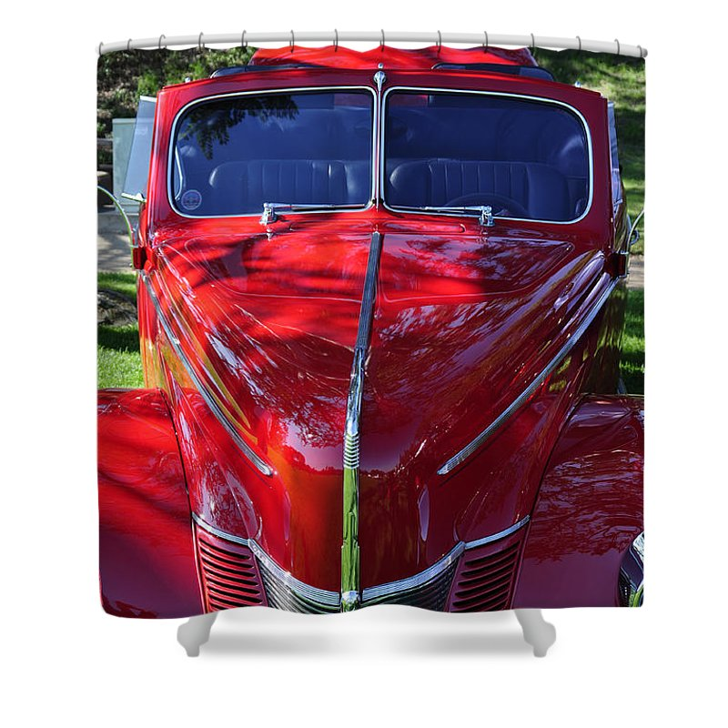 Clay Shower Curtain featuring the photograph Red Hot Rod by Clayton Bruster