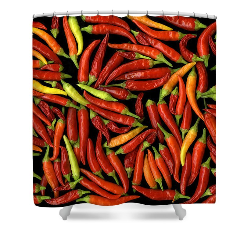 Color Shower Curtain featuring the photograph Red Hots by Christian Slanec