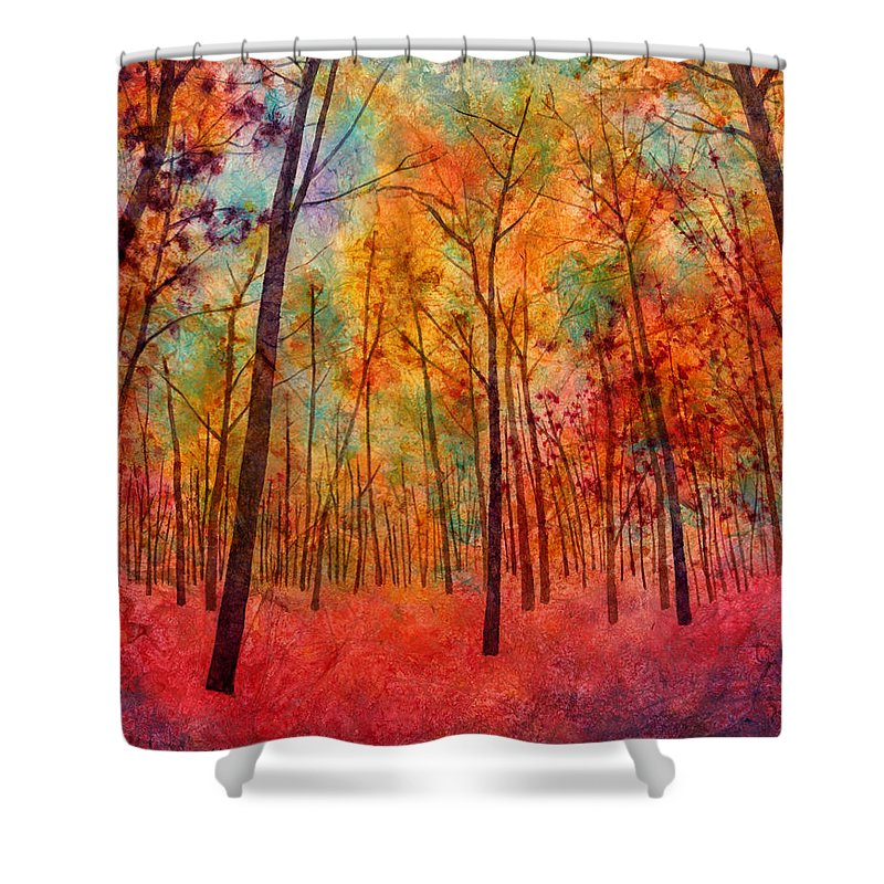 Red Bush Shower Curtains