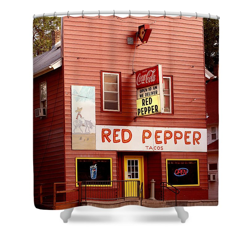 Redpepper Shower Curtain featuring the photograph Red Pepper Restaurant by Steve Augustin
