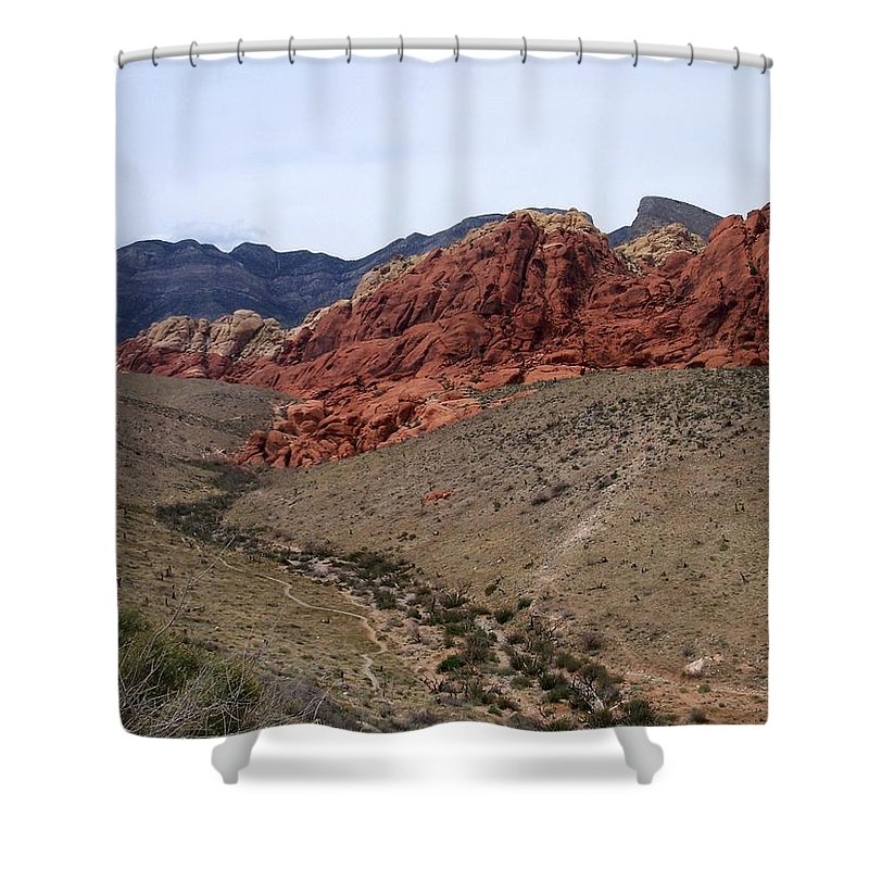 Red Rock Canyon Shower Curtain featuring the photograph Red Rock Canyon 1 by Anita Burgermeister