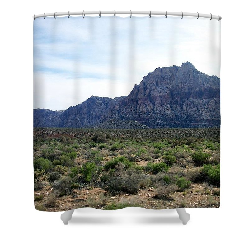 Red Rock Canyon Shower Curtain featuring the photograph Red Rock Canyon 3 by Anita Burgermeister