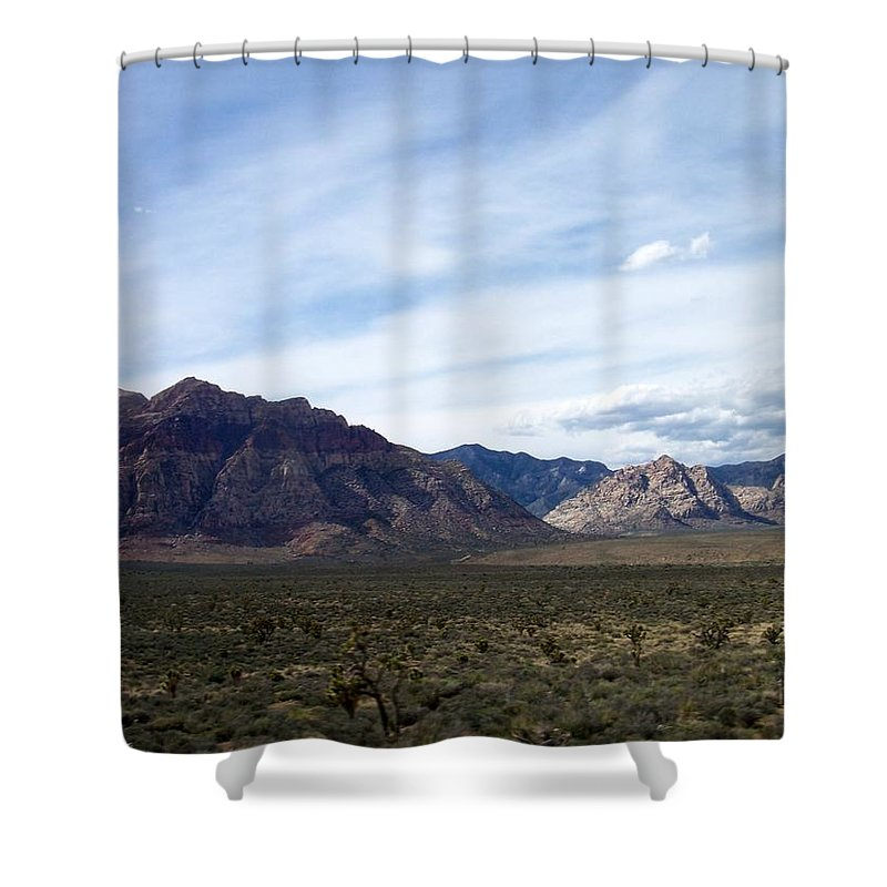 Red Rock Canyon Shower Curtain featuring the photograph Red Rock Canyon 4 by Anita Burgermeister