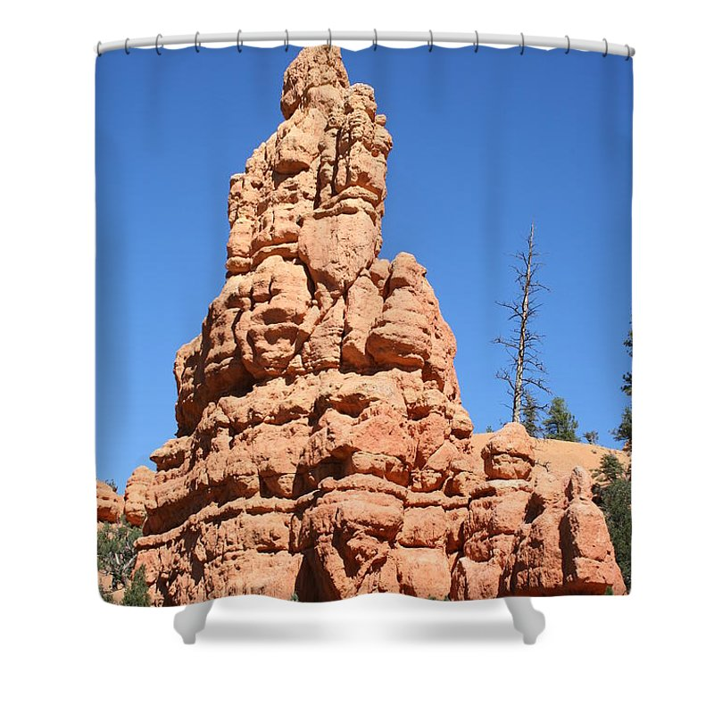 Rock Shower Curtain featuring the photograph Red Rock by Christiane Schulze Art And Photography
