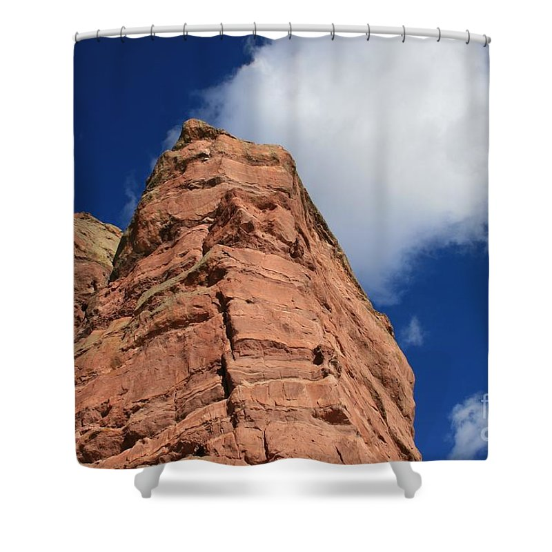 Landscape Shower Curtain featuring the photograph Red Rock by Tammie Mohn