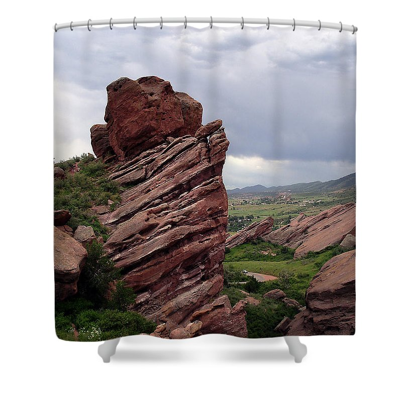Red Rocks Shower Curtain featuring the photograph Red Rocks Colorado by Merja Waters