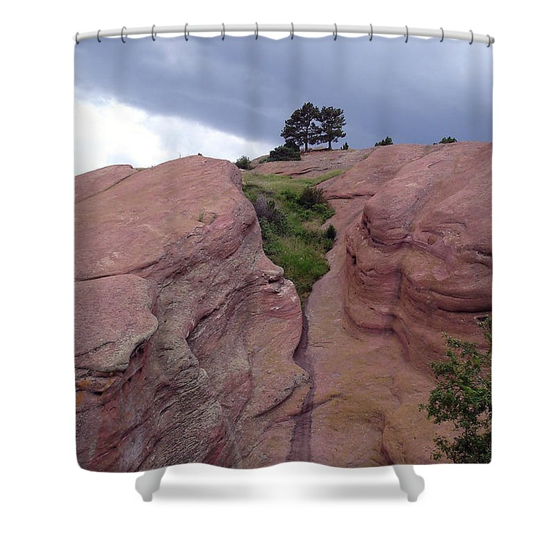 Red Rocks Shower Curtain featuring the photograph Red Rocks by Merja Waters