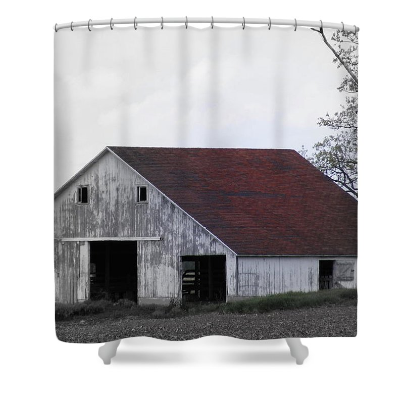 Barn Shower Curtain featuring the photograph Red Roof Barn by Ed Smith