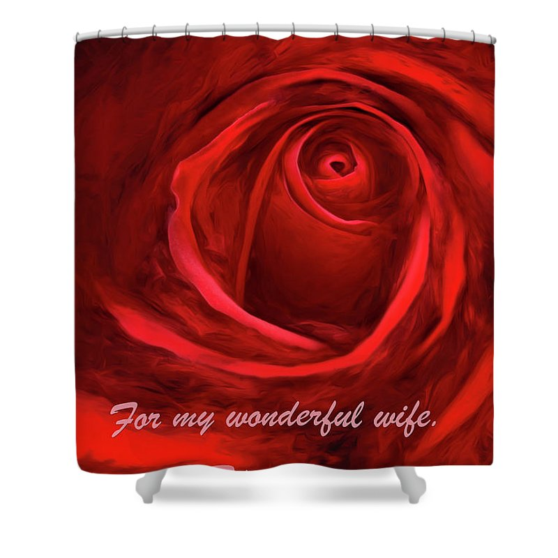 Roses Shower Curtain featuring the photograph Red Rose II by George Robinson