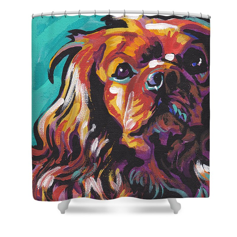 Ruby Shower Curtain featuring the painting Red Ruby by Lea S
