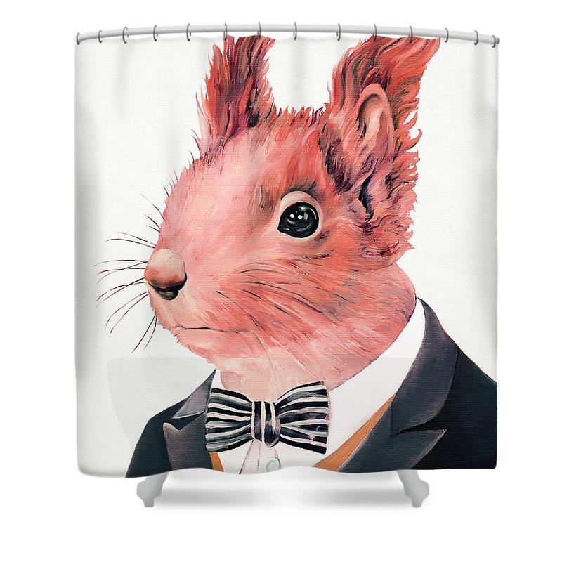 Squirrel Shower Curtains