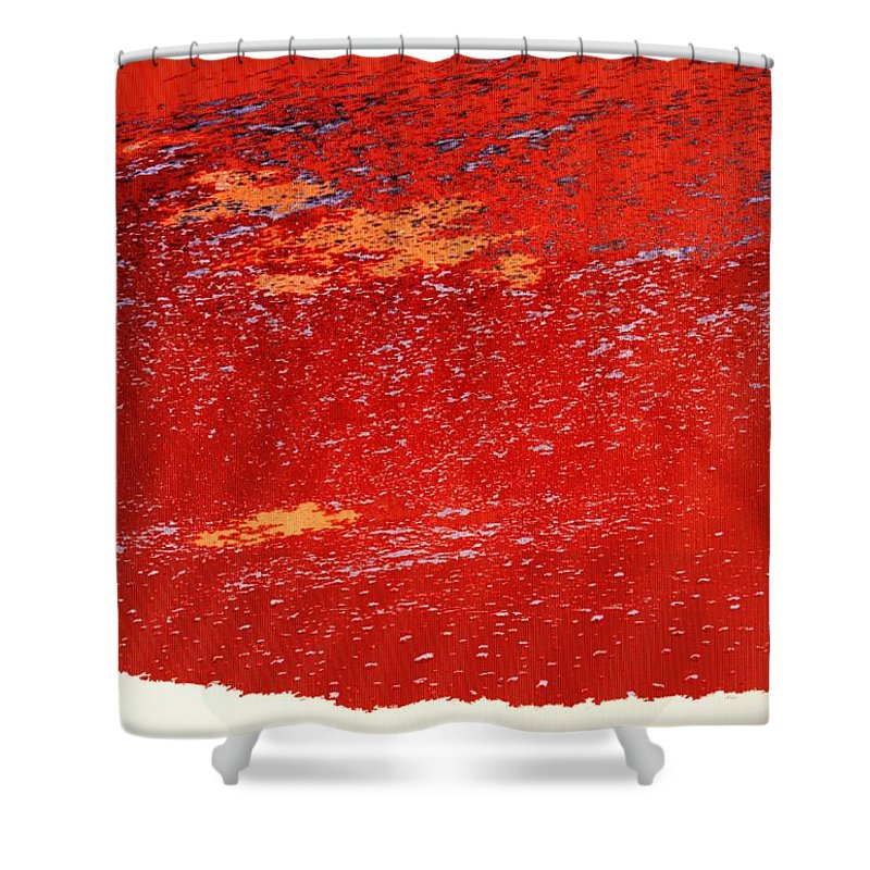Red Shower Curtain featuring the photograph Red Surf On The Beach by Ian MacDonald