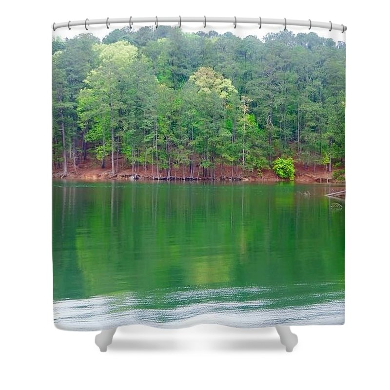 Shower Curtain featuring the photograph Red Top Mountain Park by Richard Brooke