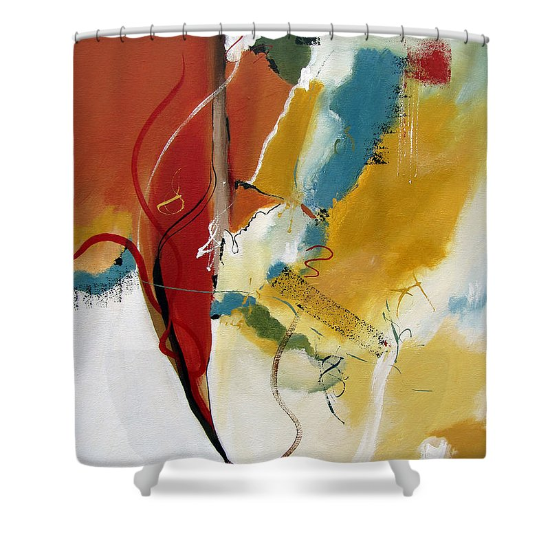 Christian Abstract Shower Curtain featuring the painting Redemption by Ruth Palmer