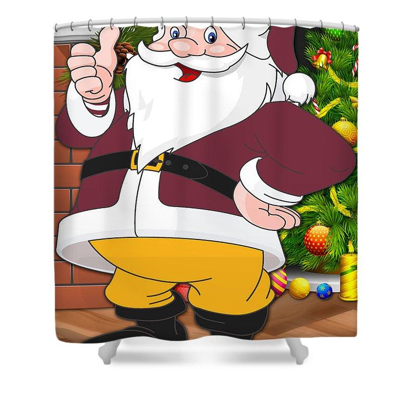 Redskins Shower Curtain featuring the photograph Redskins Santa Claus by Joe Hamilton