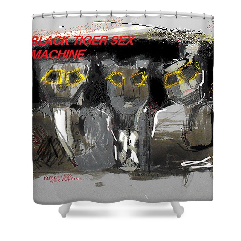 Btsm Shower Curtain featuring the painting Redux Btsm by Samuel Zylstra