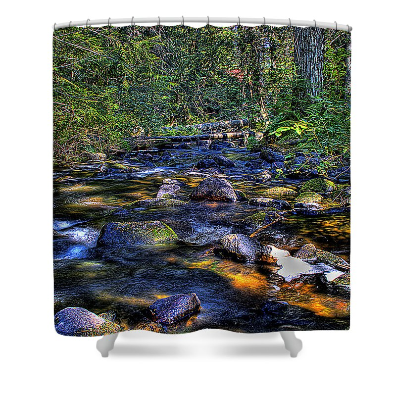 Reeder Creek Shower Curtain featuring the photograph Reeder Creek II by David Patterson