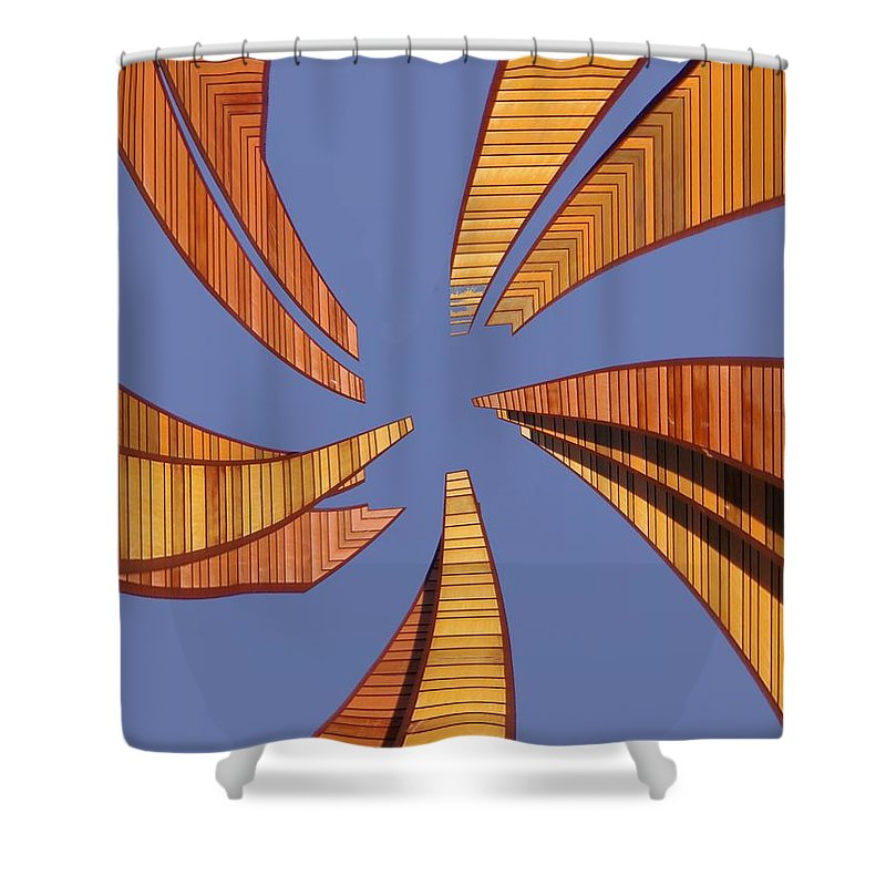 Seattle Shower Curtain featuring the digital art Reeds 2 by Tim Allen
