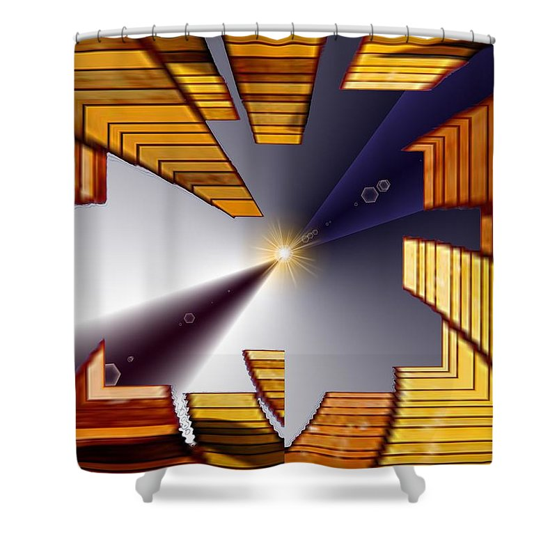 Seattle Shower Curtain featuring the digital art Reeds 3 by Tim Allen